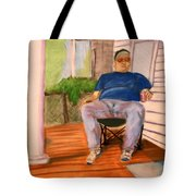 On The Porch With Uncle Pervy Tote Bag