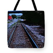 On The Railroad Tracks Tote Bag