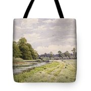 On The River Ouse Hemingford Grey Tote Bag by William Fraser Garden
