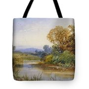 On The River Parret Tote Bag