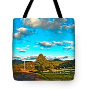 On The Road In Wv Tote Bag