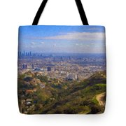 On The Road To Oz La Skyline Runyon Canyon Hiking Trail Tote Bag