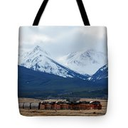 On The Rocky Mountain Front Tote Bag