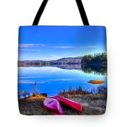 On The Shore Of Seventh Lake Tote Bag
