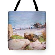 On The Shore Of The Ocean Tote Bag