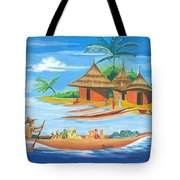 On The Shores Of Lake Kivu In Congo Tote Bag