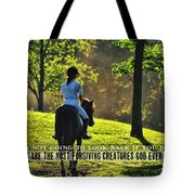 On The Showgrounds Quote Tote Bag