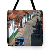On The Streets Of Barichara - 3 Tote Bag