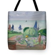 On The Terrace At Prefailles Tote Bag