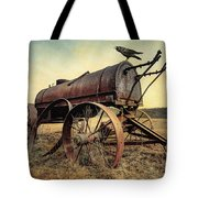 On The Water Wagon - Agricultural Relic Tote Bag by Gary Heller