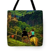 On The Way To Bran Castle Tote Bag