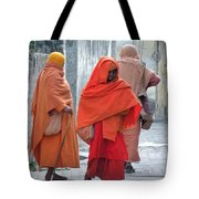 On The Way To Morning Prayers - India Tote Bag
