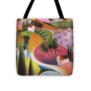On The Way To The Village Tote Bag