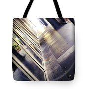 On The Way To Work Tote Bag