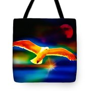 On The Wings Of A Gull Tote Bag