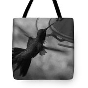 On The Wings Of A Hummingbird Tote Bag