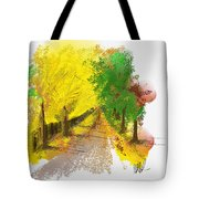 On The Yellow Road Tote Bag