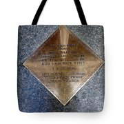 On This Spot Stood Her Majesty Tote Bag