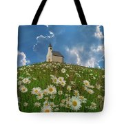 On Top Of The Hill Tote Bag
