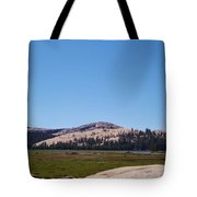 On Top Of The Mountain Valley Tote Bag