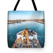 On Top Uscg Cutter Mackinaw -1014 Tote Bag