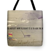 On Vacation Quote Tote Bag