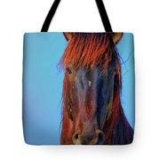 Onaqui Wild Stallion Portrait Tote Bag