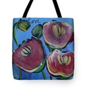 Once Upon A Yoga Mat Poppies 3 Tote Bag
