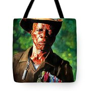 One Armed Soldier Tote Bag