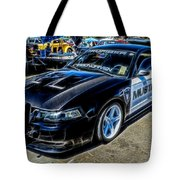 One Bad Ass Squad Car Tote Bag