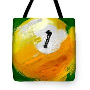 One Ball Abstract Tote Bag