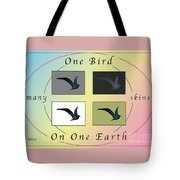 One Bird Poster And Greeting Card V1 Tote Bag