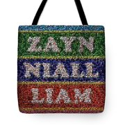 One Direction Names Bottle Cap Mosaic Tote Bag