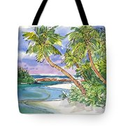 One-foot-island, Aitutaki Tote Bag by Judith Kunzle