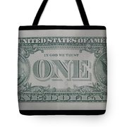 One Green Back Tote Bag