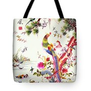 One Hundred Birds With A Phoenix, Canton, Republic Period Tote Bag