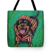 One Lucky Dog Tote Bag