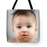 One Messy Baby Boy Tote Bag