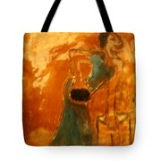 One More Hour - Tile Tote Bag