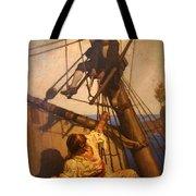 One More Step Mr. Hands - N.c. Wyeth Painting Tote Bag