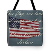 One Nation Tote Bag by April Wietrecki Green