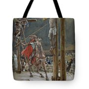 One Of The Soldiers With A Spear Pierced His Side Tote Bag by Tissot
