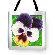One Pansy For Marti Tote Bag