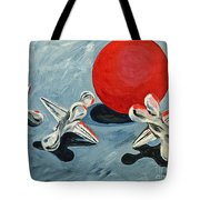 One Red Ball Tote Bag