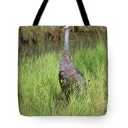 One Sandhill In Marsh Tote Bag