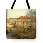 One Side On A River Tote Bag