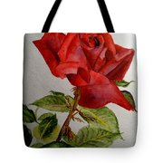 One Single Red Rose Tote Bag