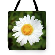 One White Daisy Tote Bag
