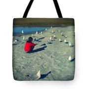 One With The Gulls Tote Bag