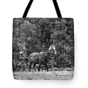 One With The Land - Bw Tote Bag